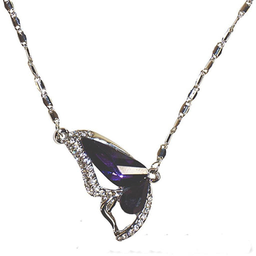 Gemstone Butterfly Wing Necklace - jenzys.com