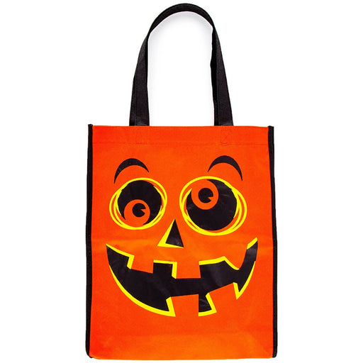 Orange Pumpkin Trick or Treat Tote Bag - jenzys.com