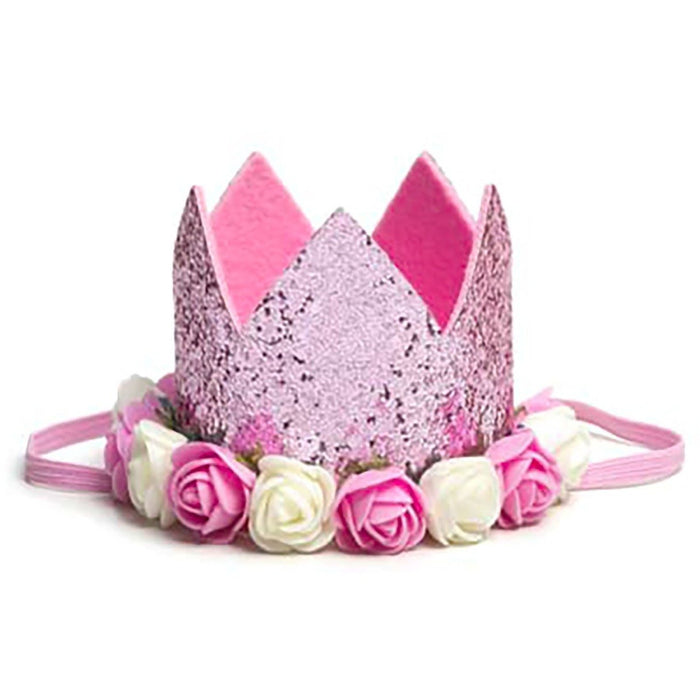 Handmade Baby Tiara Floral Crown Birthday Party Hat