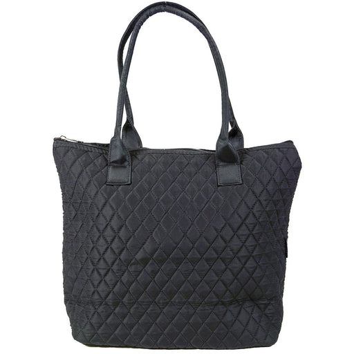 Black Quilted Tote Bag - jenzys.com