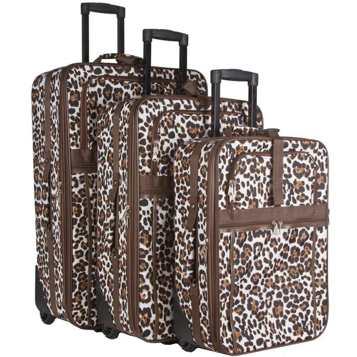 Animal Print Luggage Set - jenzys.com