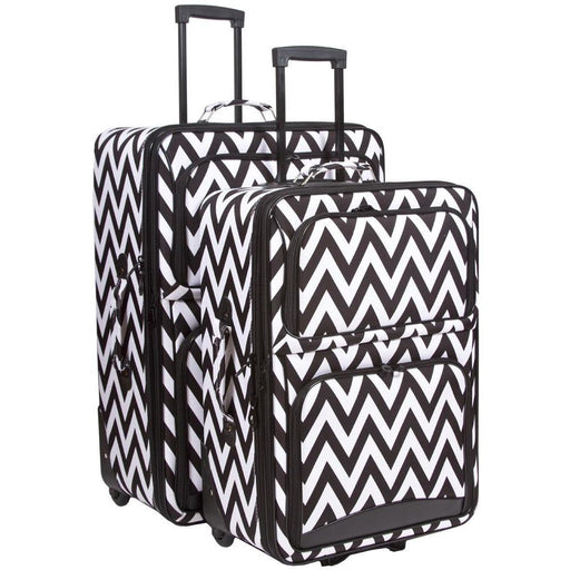 Chevron Print Luggage Set - jenzys.com