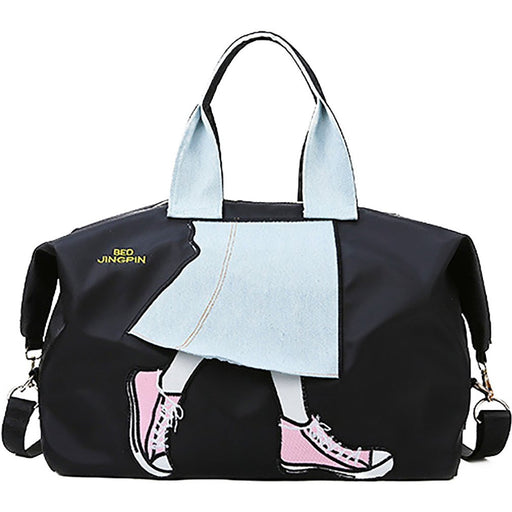 Denim Skirt Girl Extra Large Tote Bag - jenzys.com