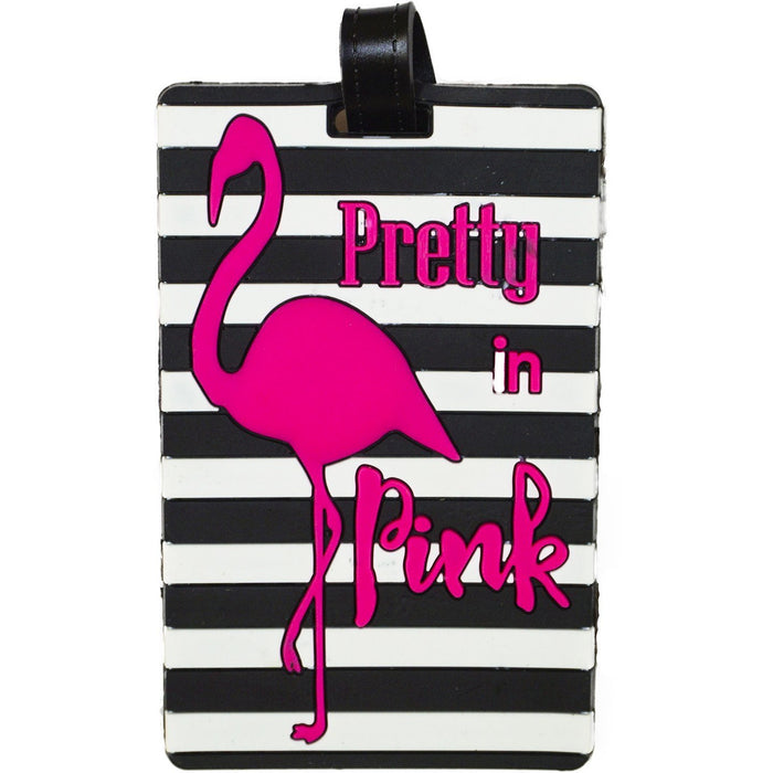 Flamingo Pretty In Pink Luggage Tag - jenzys.com