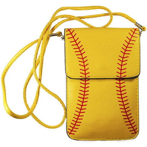 Softball Cell Phone Touch View Cross Body Bag - jenzys.com