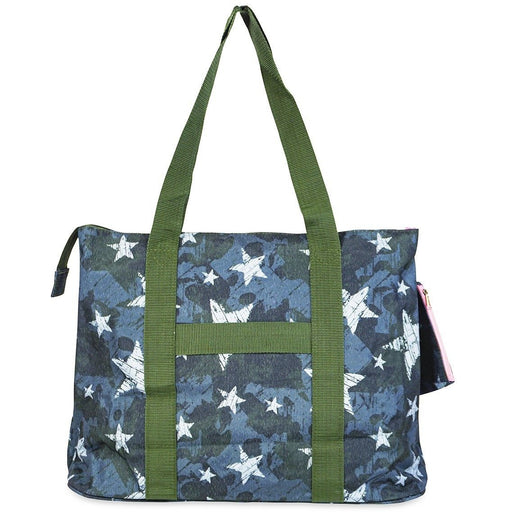 Jenzys Star Camo Shopping Tote Bag - jenzys.com
