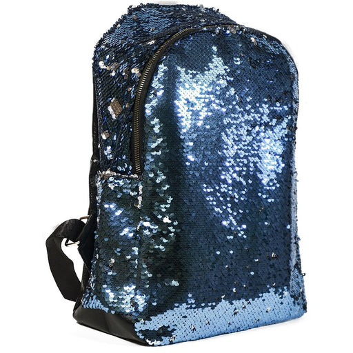 Sequin Leather Backpack School Bag