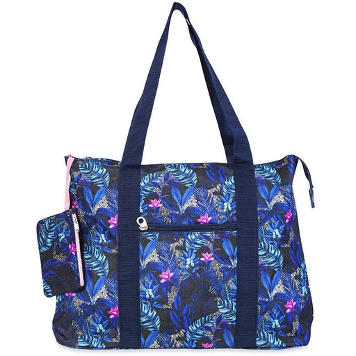 Jenzys Tropical Leaves Shopping Tote Bag