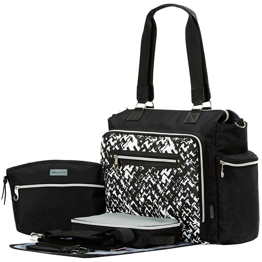 Time Square Stripe Tote Diaper Bag - jenzys.com