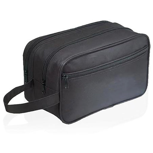 Black Polyester Travel Toiletry Bag - jenzys.com