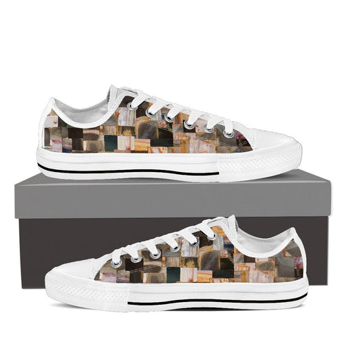 Retro Jasper Women's Low Tops White