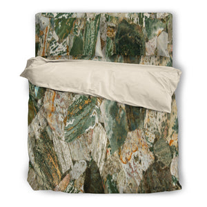 Ocean Jasper Duvet & Pillow Cover Set Beige or Black