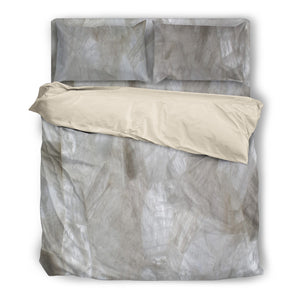 Classic Quartz Duvet & Pillow Cover Set Beige or Black Trim