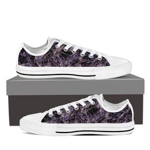 Amethyst Women's Low Top Canvas Shoes White