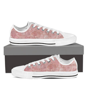 Rose Quartz Women's Low Top Canvas Shoe White
