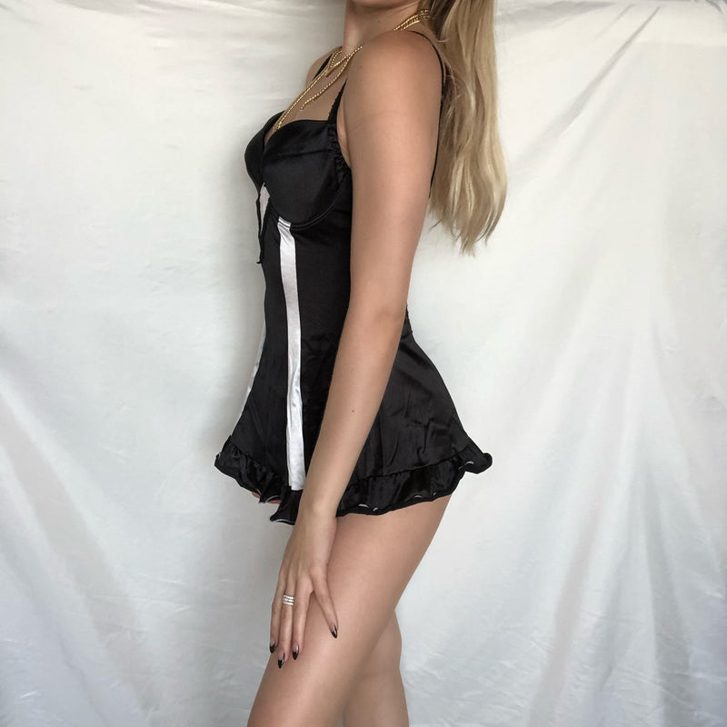 Black Ruffled Babydoll