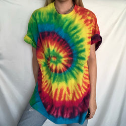 Green Yellow Red Tie Dye