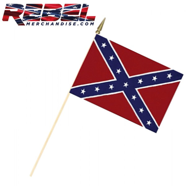"12"" x 18"" Rebel Flag on 2' Pole"