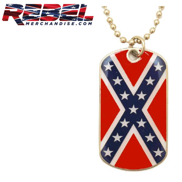 "Rebel Dog Tag w/24"" Chain"