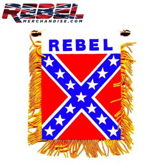 "4""x6"" Mini Rebel Flag w/Suction Cup"