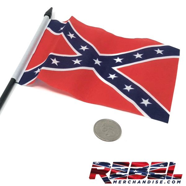 "6"" x 4.25"" Rebel Flag - size comparison"