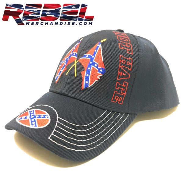 Blue 'Heritage Not Hate' Rebel Hat - embroidered