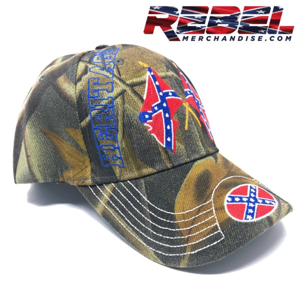 Camo 'Heritage Not Hate' Rebel Hat - embroidered