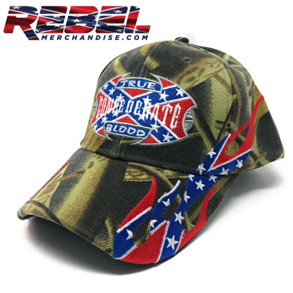 Camo 'True Confederate Blood' Hat