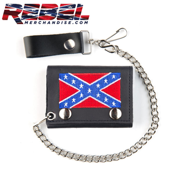 Embroidered Rebel Flag Wallet