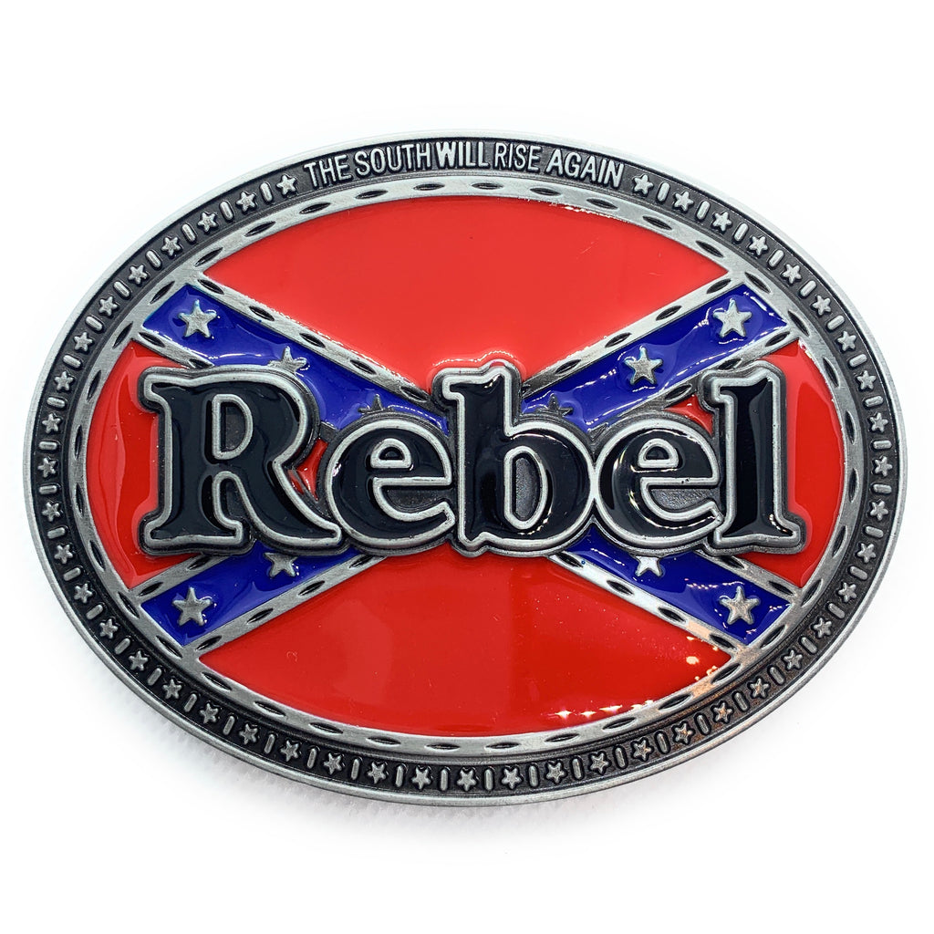 ZZZ Rebel Flag Belt Buckle