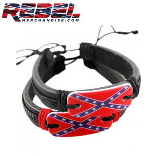 adjustable rebel flag bracelet