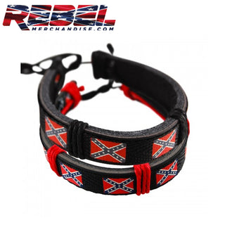 rebel adjustible leather bracelet