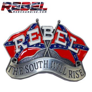 "Rebel ""The South Will Rise"" Belt Buckle"
