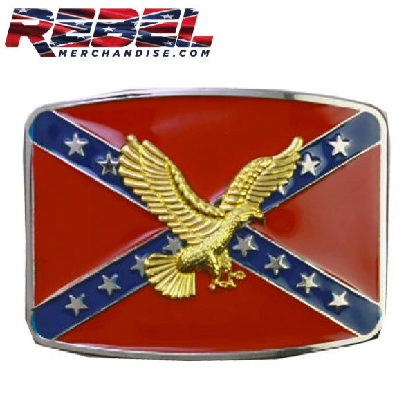 Gold Eagle Rebel Belt Buckle