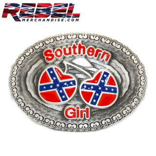 Southern Girl Rebel Hearts Belt Buckle