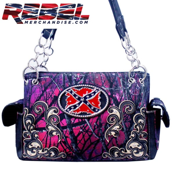 Purple and Black Camo Rebel Purse