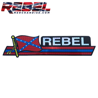 "rebel reflective bumper sticker 3""x12"""