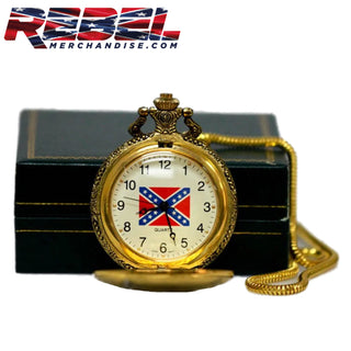 Rebel Flag Pocket Watch