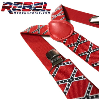 Rebel Flag Suspenders