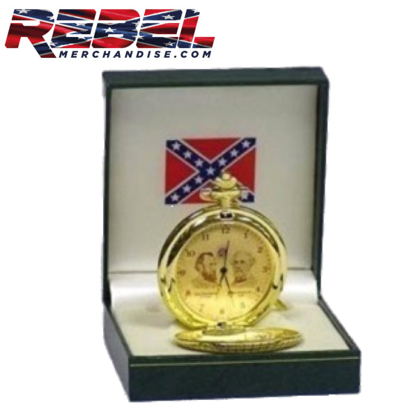 robert e leee and stonewall jackson gold pocket watch