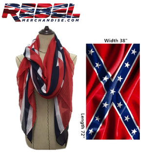 Rebel Flag Scarf