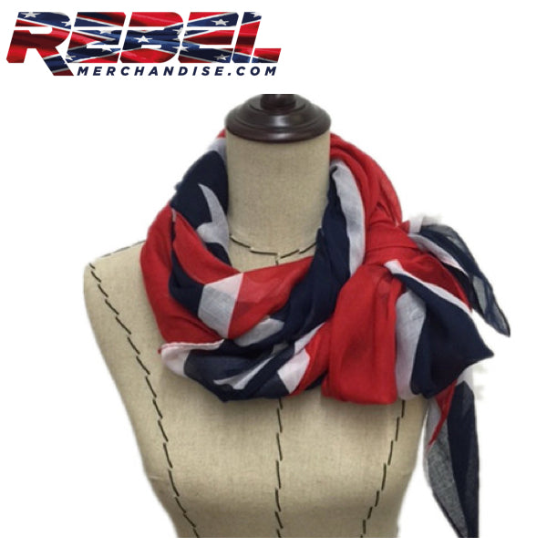 scarf - rebel flag large 3 feet wide