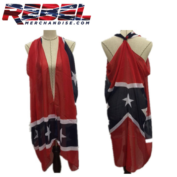 rebel flag scarf large 6 feet