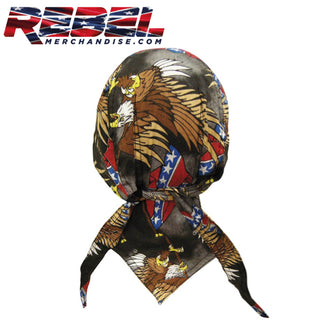 Rebel Flag & Eagle Skullcap