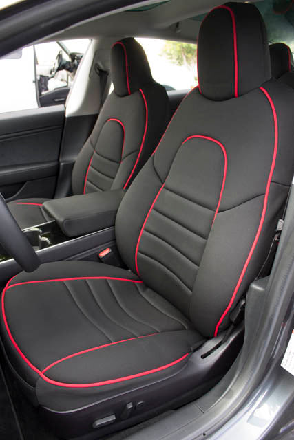 Wet Okole Full Piping Tesla Model 3 Front Seat Covers