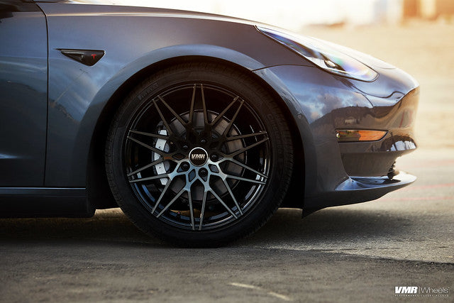 "VMR V801 19"" Staggered Wheel/Tire Set for Tesla Model 3 Front Side"