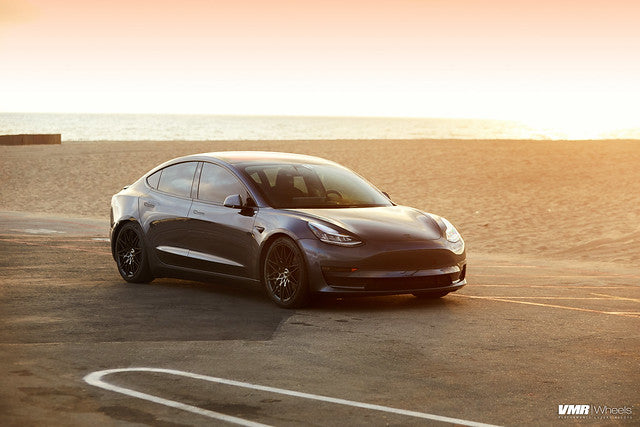 "VMR V801 Tesla Model 3 18"" Titanium Black Shadow Front View"