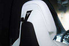 EVampedup Tesla Model S Coat Hooks for Model X or X in S Seats w/ Adjustable Headrest