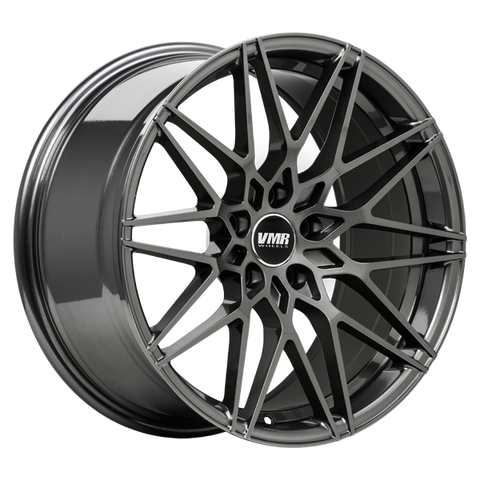 "VMR V801 Tesla Model 3 18"" Wheel/Tire Square Set Anthracite Metallic"