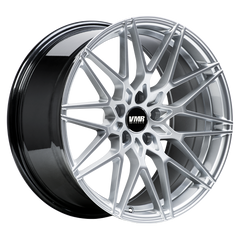 "VMR V801 Tesla Model 3 18"" Staggered Wheel/Tire Set Hyper Silver"
